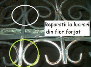Reparatii la lucrari din fier forjat